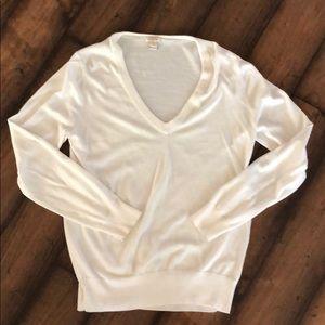 J.Crew white sweater